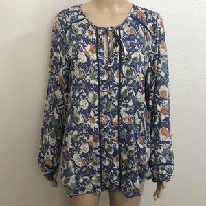 3/$29 Lucky Brand Floral Print Tunic Top